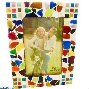 Colorful Mosaic Ceramic / Glass Tile Photo Frame